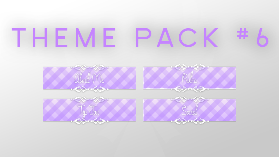 FREE Twitch Panel Theme Packs Twitch, Overlays, Graphic