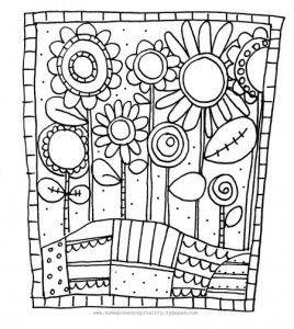 Coloriage fleurs chd cole bricolage coloriage - Coloriage mandala printemps ...