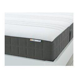 h v g colch n muelles embolsados 90x190 cm firme gris oscuro ikea sepulveda pinterest. Black Bedroom Furniture Sets. Home Design Ideas