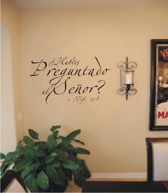Vinilos decorativos para pared, Habéis Preguntado al Señor