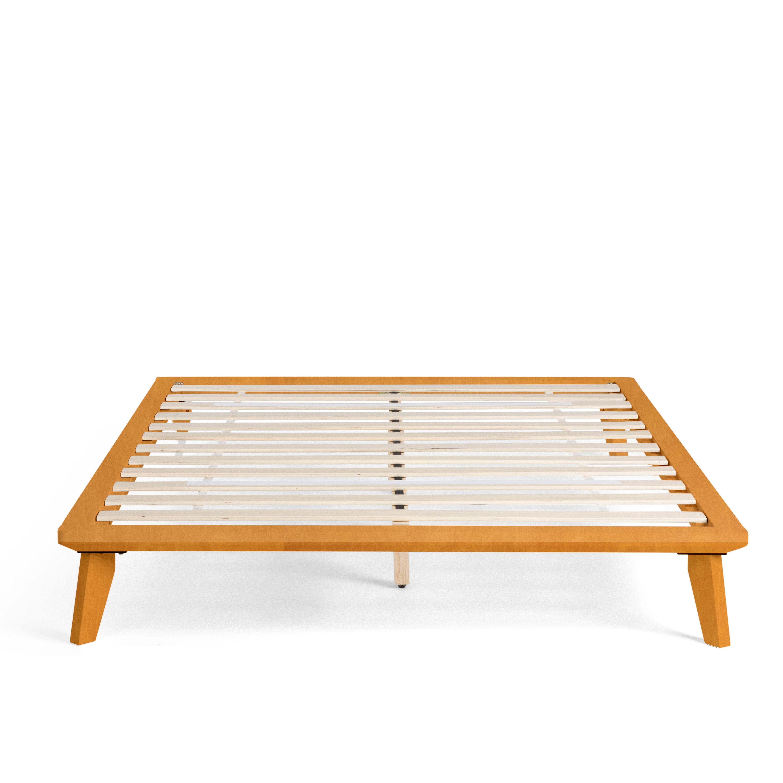 Golden Oak King Size Wood Slats Platform Bed By Nectar Wood Slats Platform Bed Home Decor Styles Platform bed with wooden slats