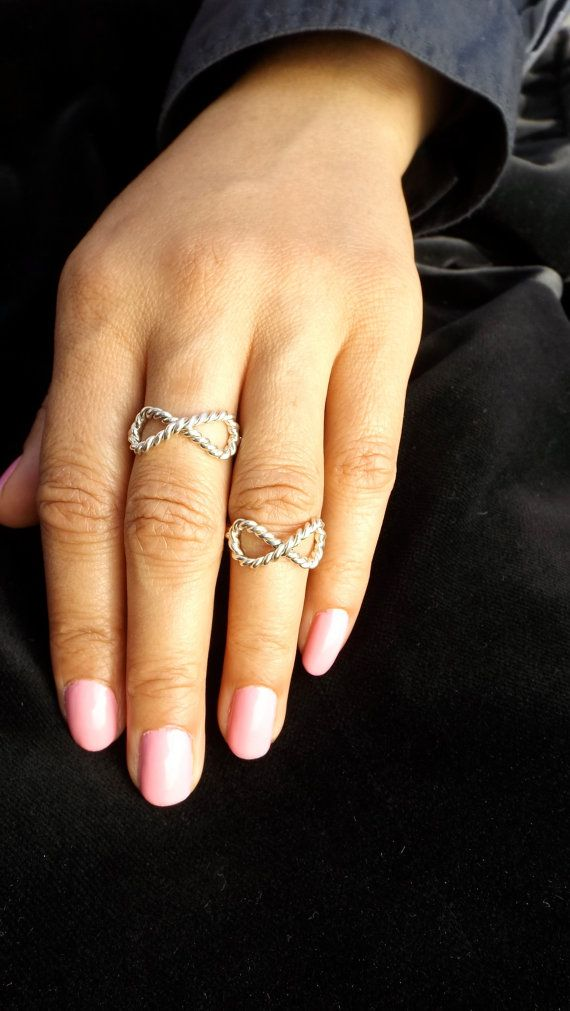 Sterling Silver Rope Infinity Ring by Esteverde on Etsy