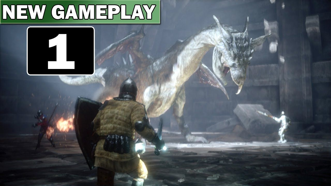 Deep Down:18 Minutes Of Gameplay Part 1 [Dragon Boss Fight]