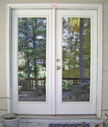Instructions showing how to replace an exterior French door astragal. The old wood astragal was broken and replaced with an aluminum unit. & How to Replace an Exterior French Door Astragal | BDCS | Pinterest ...