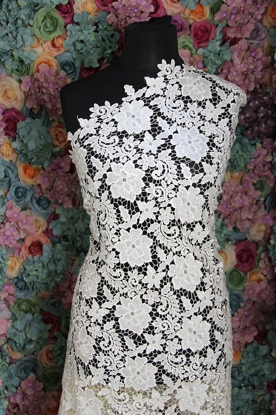 Dark Ivory Guipure French Bridal Lace