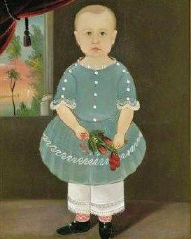 Sturtevant J Hamblin (American artist 1817-1884) Little Boy with Flowers (Prior-Hamblin School)womeninamericanhistory19.blogspot.com