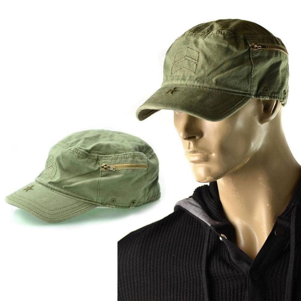 A.Kurtz Hat Mens Black Cadet Fritz Tonal Military Lid Cap Size M NEW  8ee5478155ea