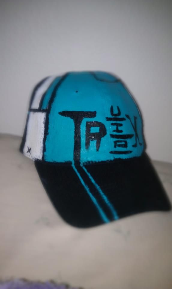my awesome Truxton (Lapfox) hat i painted for myself for my birthday ... b1e651542a5
