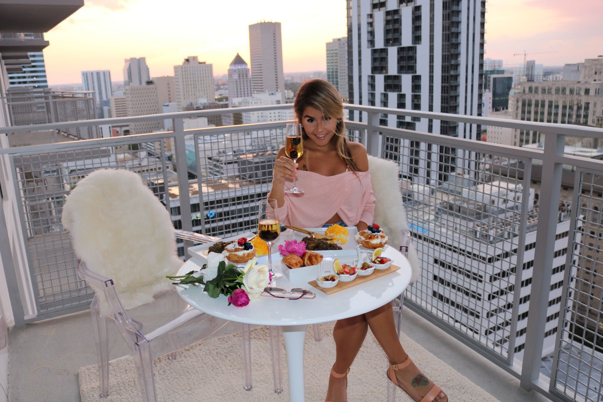 Persian Food Watching The Sunset In Brickell Downtown Miami Amazing City View Luxury Living Cheers Ghormeh Sabzi 17 Persian Food Favorite Dish Downtown Miami