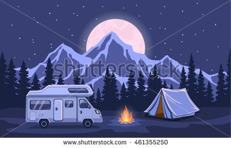 Image result for posters showing rv's in outdoor scenes