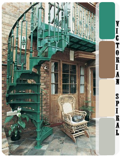 Spiral Classic Staircase (cast Iron Steps And Frame) Cast Spiral Stairs