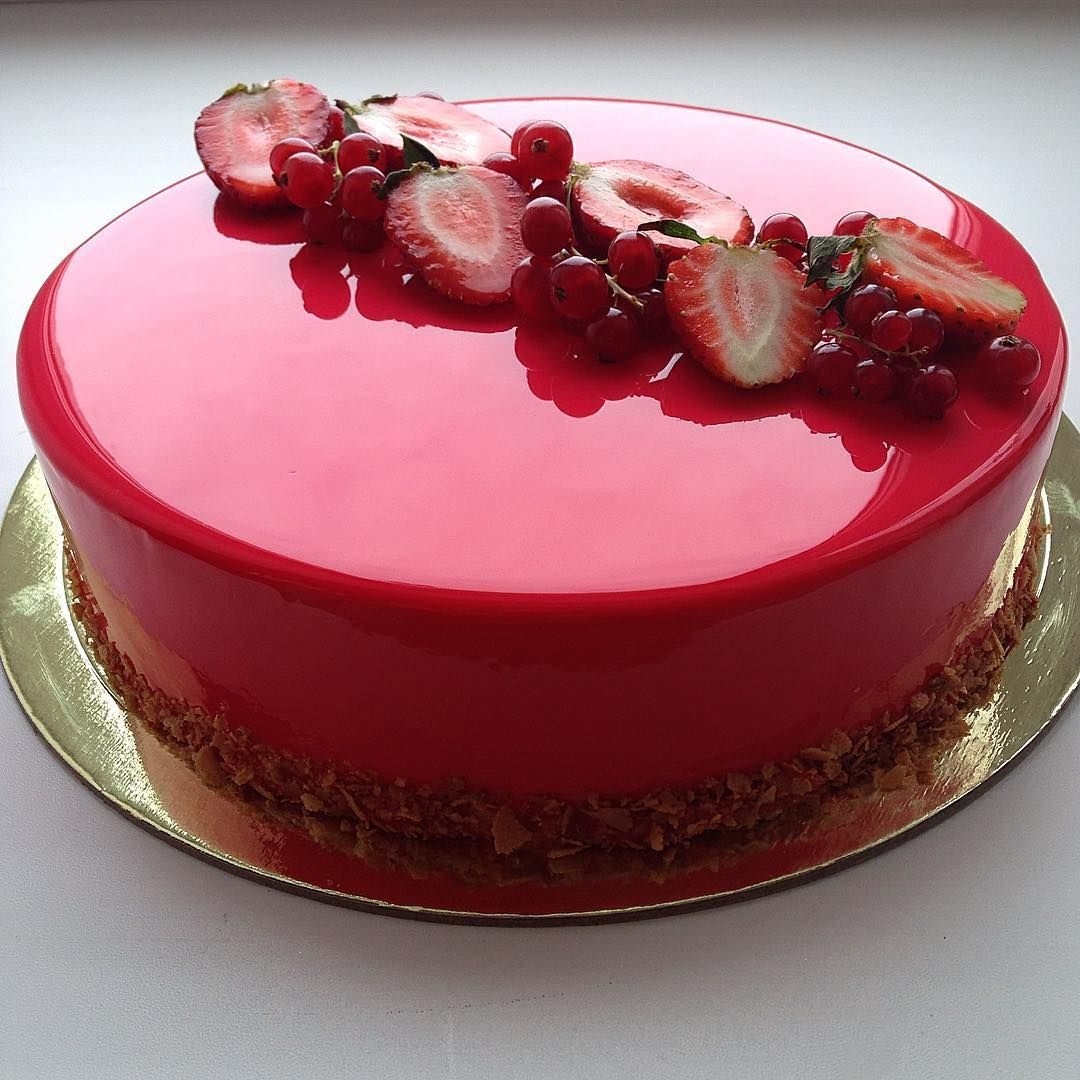 The pastry chef uses gelatin to make the glaze look mirror-like. The best cake when the occasion calls for a special cake thats not boring. And You Can Do It Too: Here s the