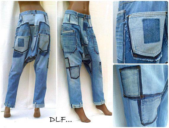 a973aa5e43 Senderismo jeans unisex Pantalones con entrepierna corta en Bombachos Mujer