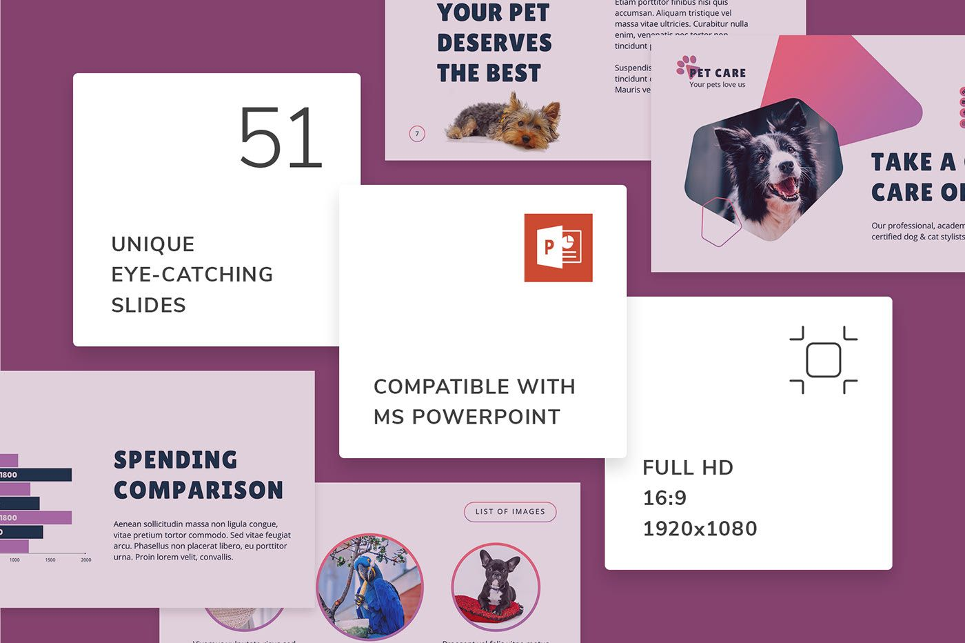 Pet Grooming Care PowerPoint Presentation Template on