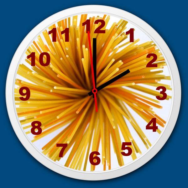 Küchenuhr Küche Wanduhr Spaghetti Quarzuhr lautlos - wanduhren für die küche