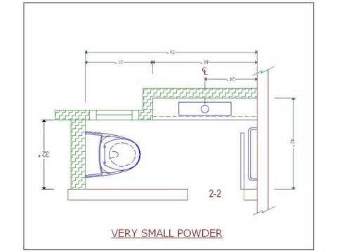 Pin by rosemarie dawes on powder room small bathroom - Small half bathroom layout ...