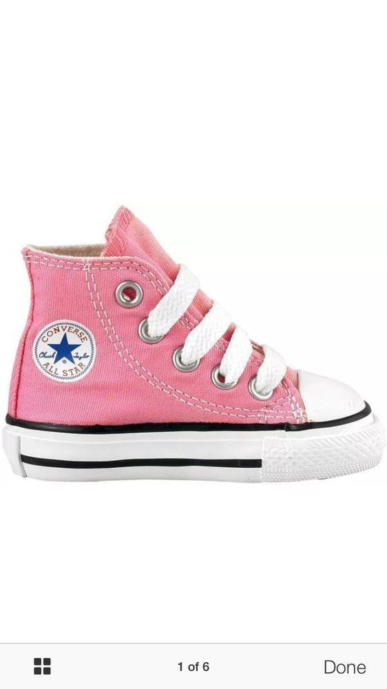 675862c59eae converse chuck taylor pink high top canvas for toddlers little girls size 9  from  24.99