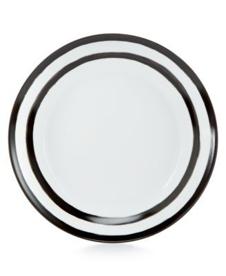 Martha Stewart Collection Whim Dinnerware Collection Black Dinner Plate, Only at Macy's