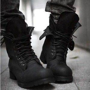 Details about Retro Combat Boots Winter England-style fashionable ...