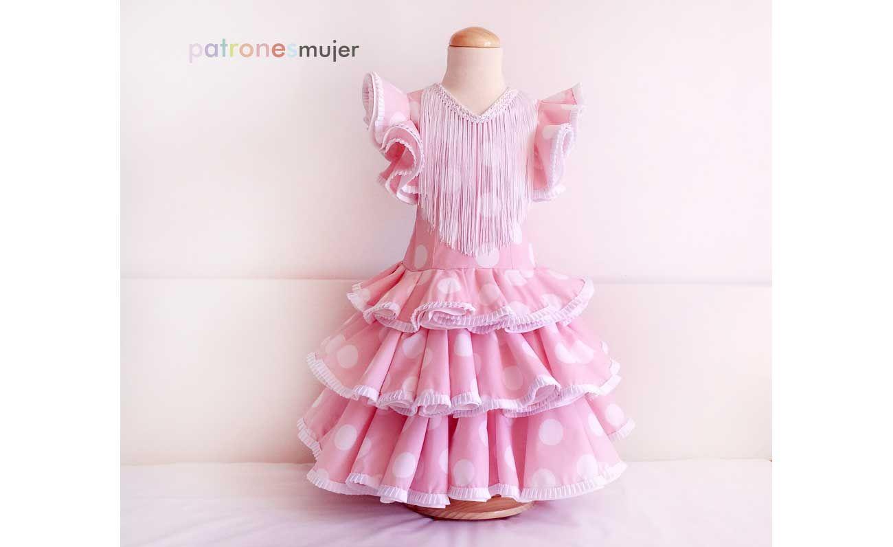 Vestido niña de flamenca: DIY | Pinterest | Flamenco, Molde y Patrones