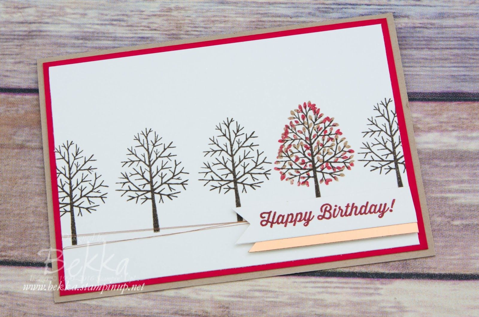 Totally trees colour challenge birthday card made using stampinu up