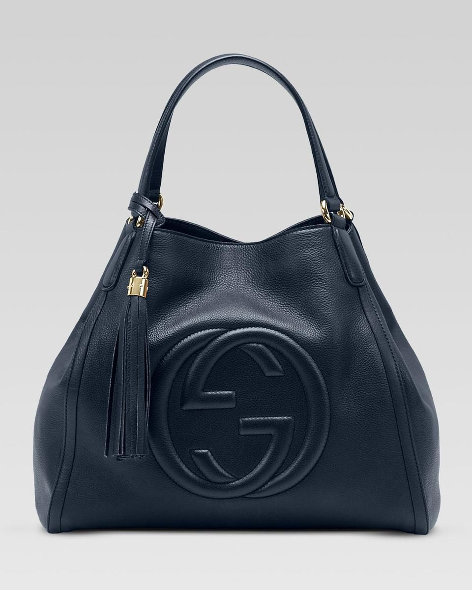 7f35b86aa82b Gucci Soho Leather Shoulder Bag, Dark Blue | Gucci | Bags, Gucci ...