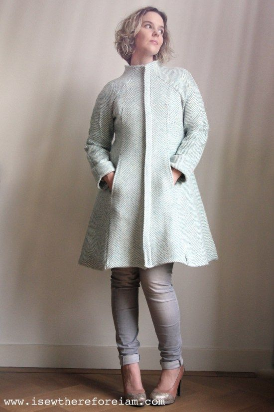 My Hemisfèric Coat by Pauline Alice patterns.I sewed a coat - and it wasn't even that hard!!