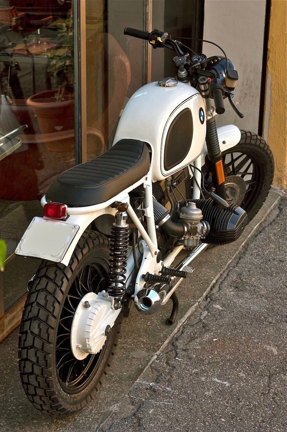 Bmw R100 White By Cafe Twin Moto Pinterest Cafes And Twins Bikes