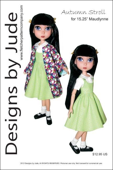 "Casuals Doll Clothes Sewing Pattern for 15.25/"" Maudlynne LittleMissMatched"