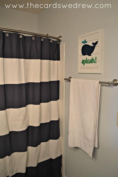 Evie Ivy Whale Sign For Bathroom Decor