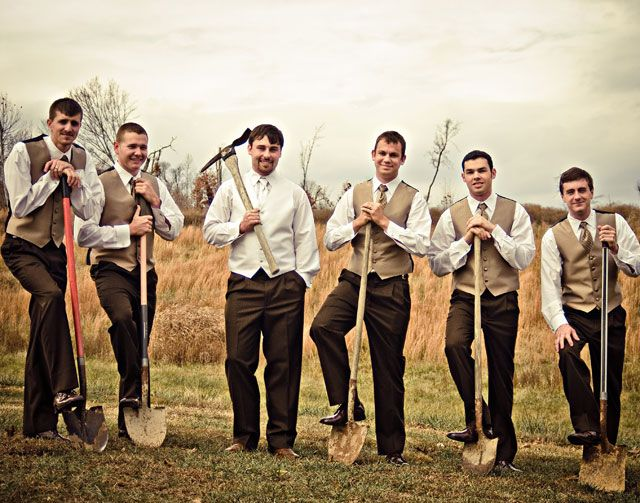 Outdoor Wedding Attire For Groomsmen