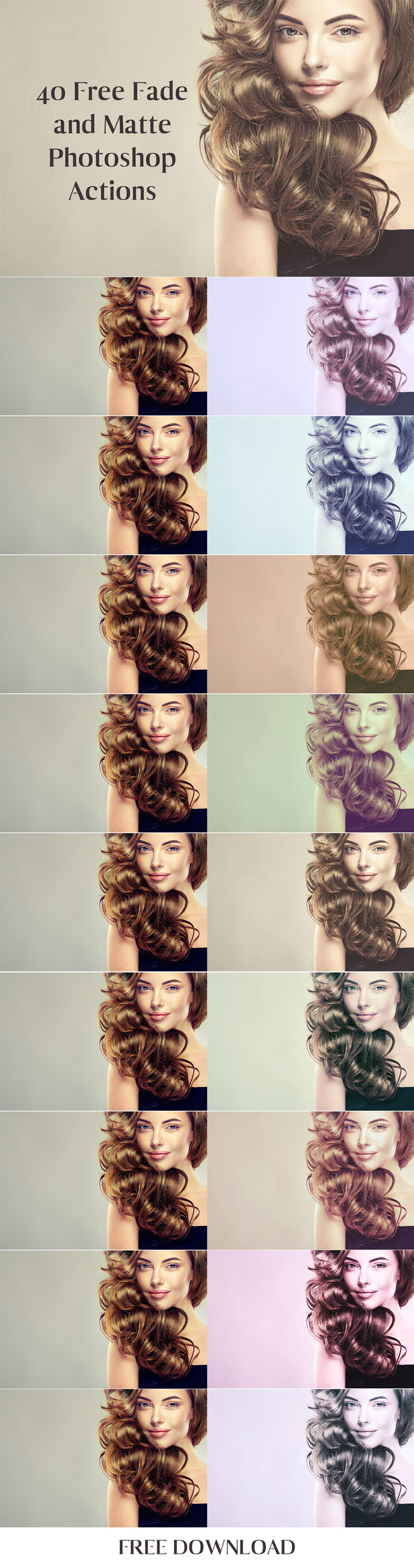 40 Free Fade Matte Photoshop Actions | Photoshop Resources