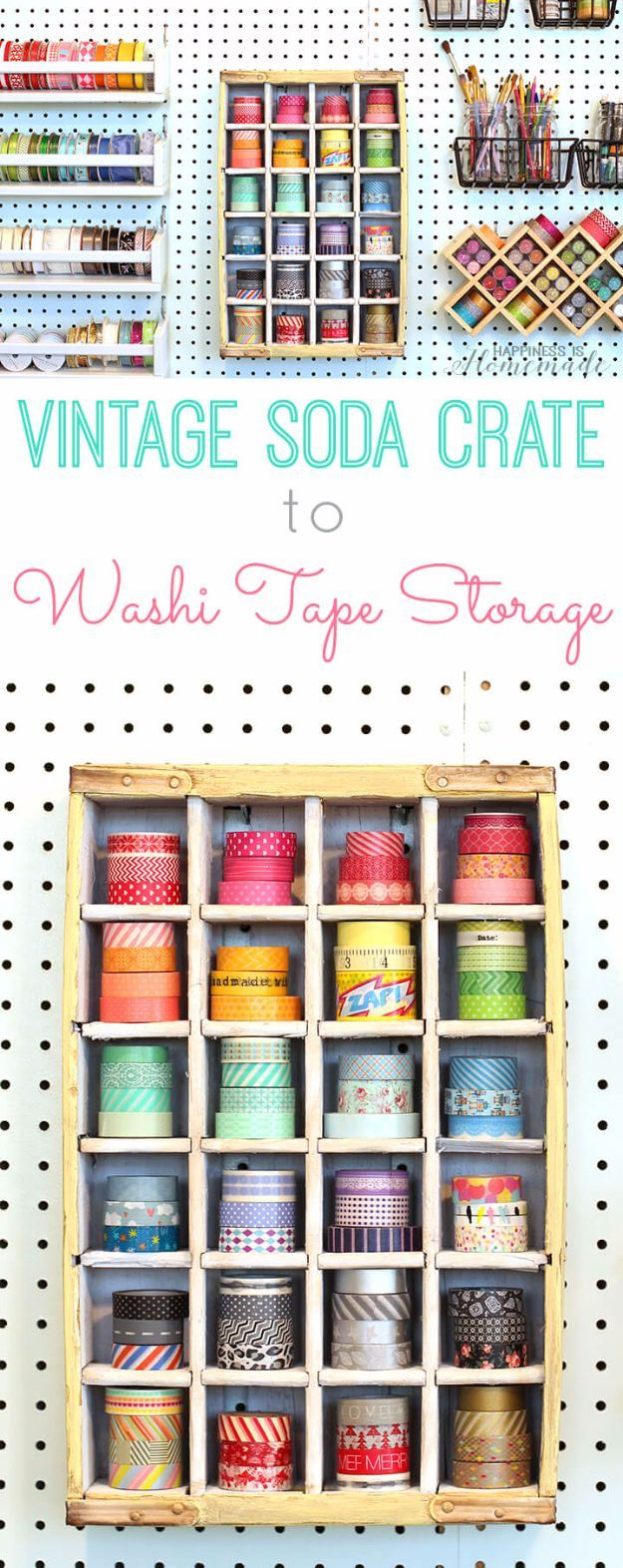 35 cool craft room storage ideas pinterest diy craft room storage ideas and craft room organization projects vintage soda crate storage solutioingenieria Images