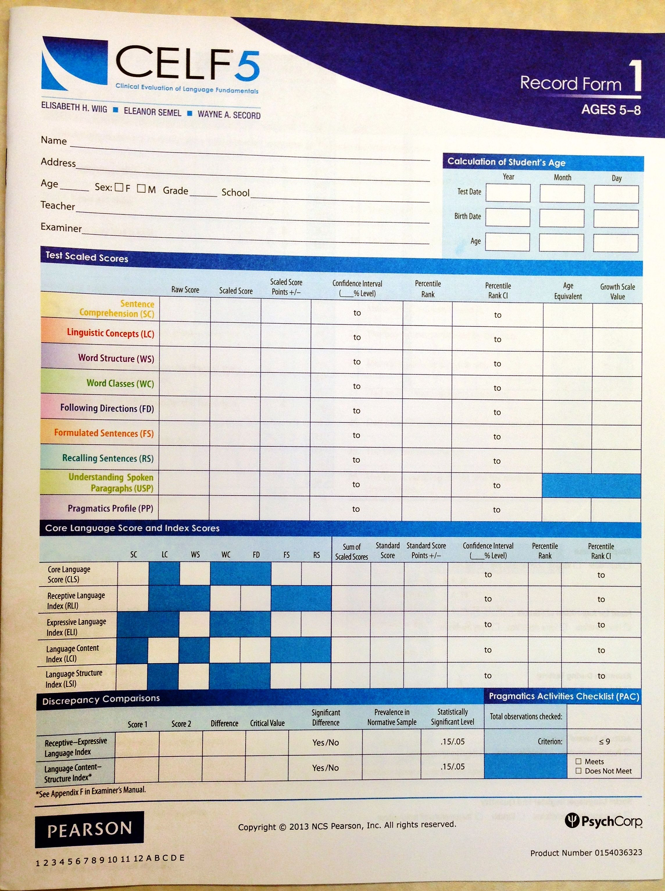 Day 1 here is the new record form 1 for the celf5