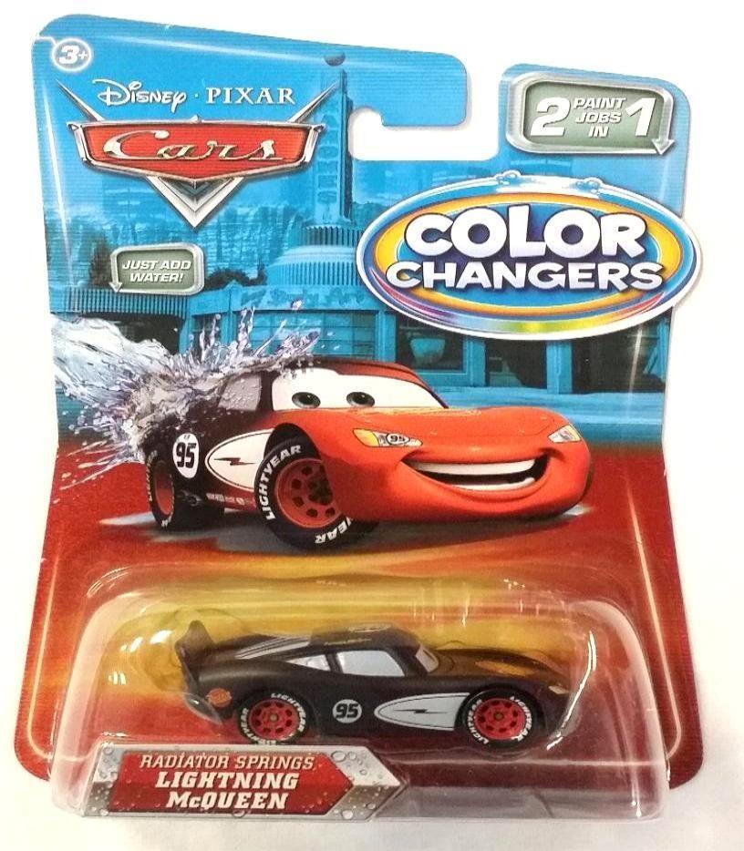 DISNEY PIXAR CARS COLOR CHANGERS RADIATOR SPRINGS LIGHTNING MCQUEEN (RARE) - NEW