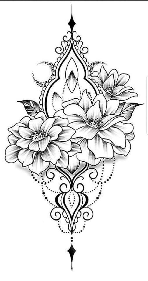 Tatowierungen Flowertattoos Mandala Arm Tattoos Floral Tattoo Design Mandala Tattoo Design
