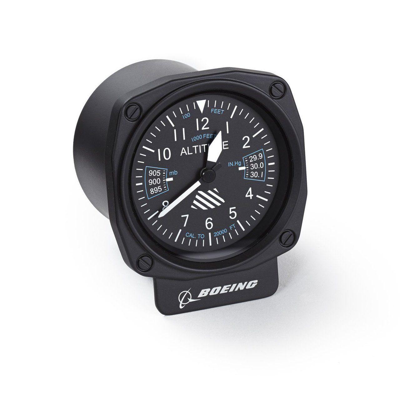 boeing cockpit altimeter desk clock - Desk Clocks
