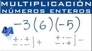 Multiplicación De Números Enteros Los Objetivos Primordiales Dentro Del Aula Están Basados En Las Principales Funci Numeros Enteros Multiplicacion Matematicas