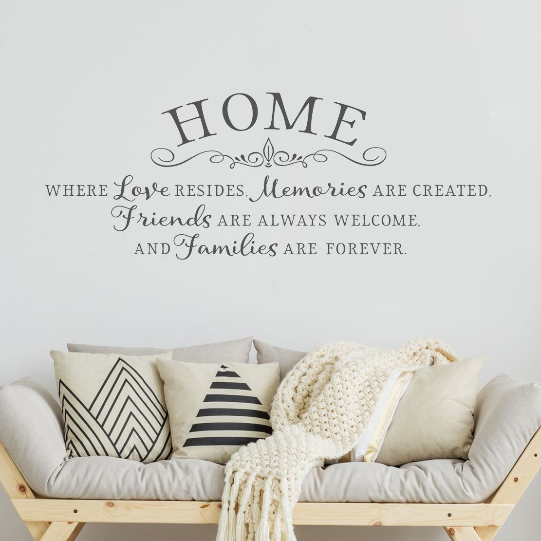 Home Is Where Love Resides Inspiring Wall Decal Home Quotes Kitchen Wall Quotes Kitchen Wall Decals Wall Quotes Decals