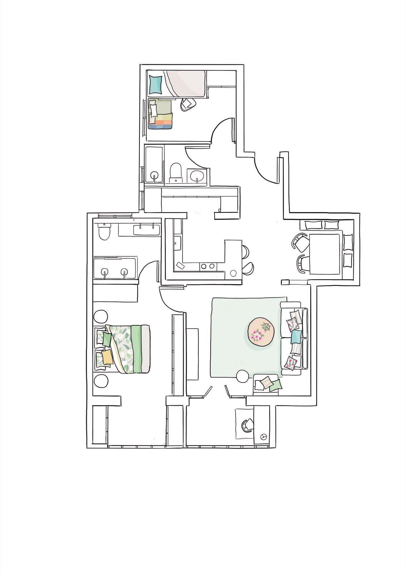 80 metros muy aprovechados proyectos arquitect nicos for Diseno de apartamento de 4x8 mts