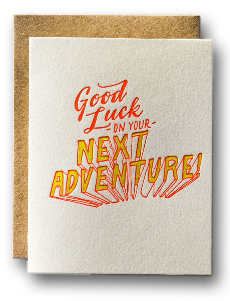 good luck on your next adventure  karte abschied kollegen