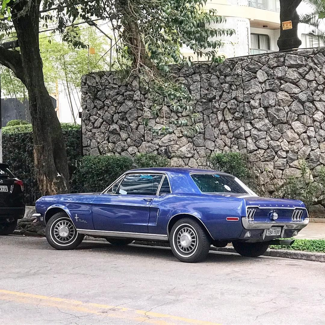 1968 ford mustang coupe classiccars sp on instagram andre rocha spotted in front of
