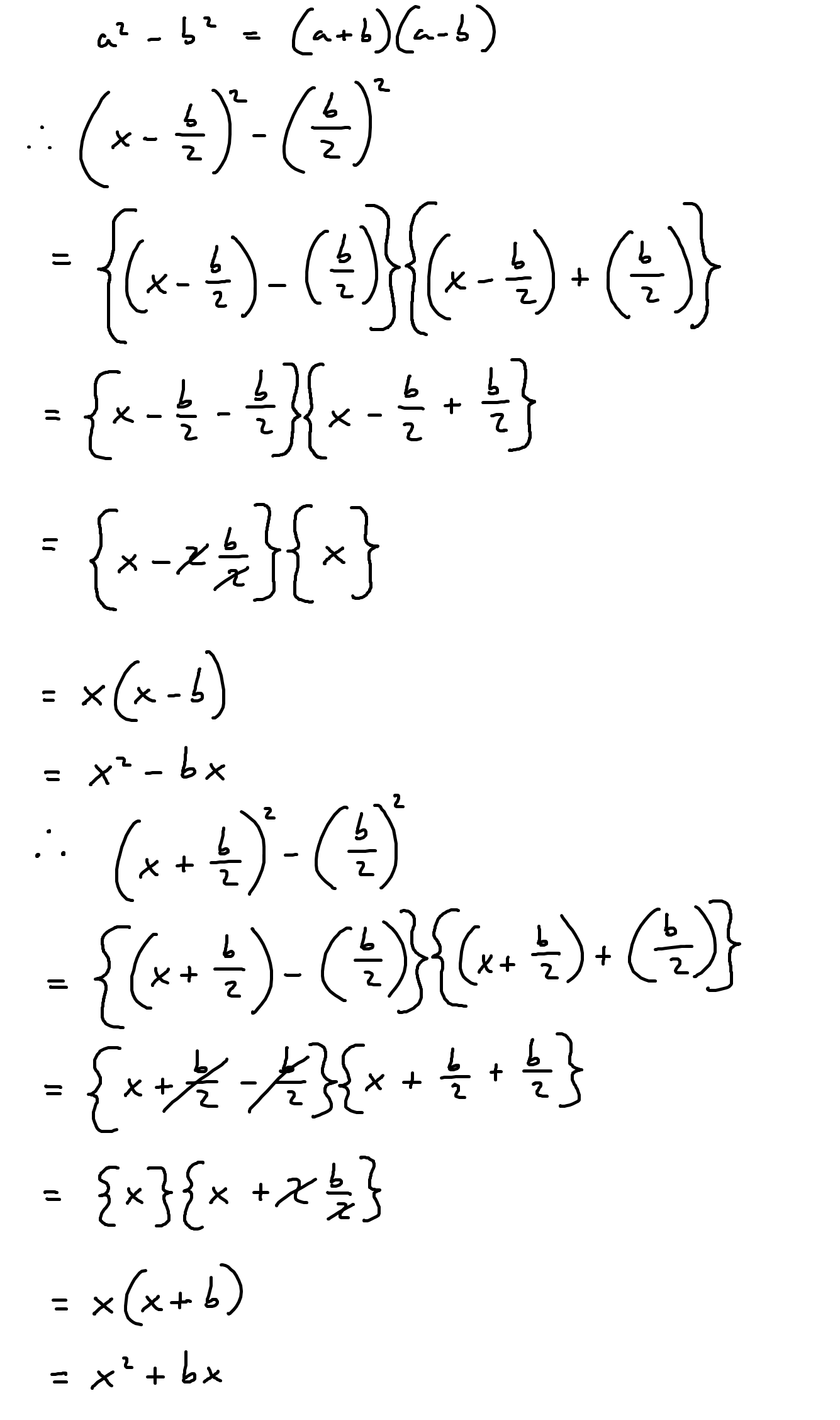 Completing The Square Formula Reversed