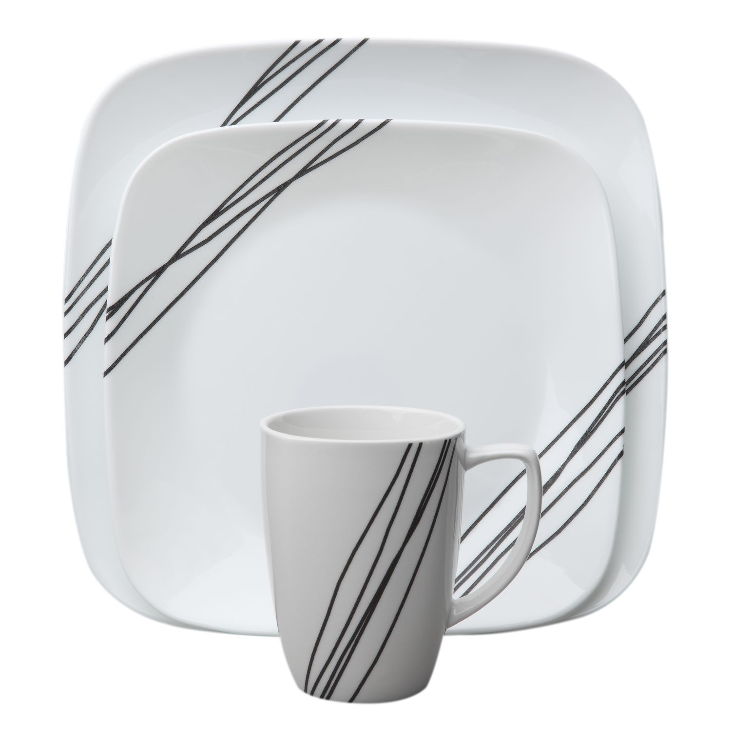 Corelle® Square™ Simple Sketch 16-Pc Dinnerware Set - World Kitchen  sc 1 st  Pinterest & Corelle® Square™ Simple Sketch 16-Pc Dinnerware Set - World Kitchen ...