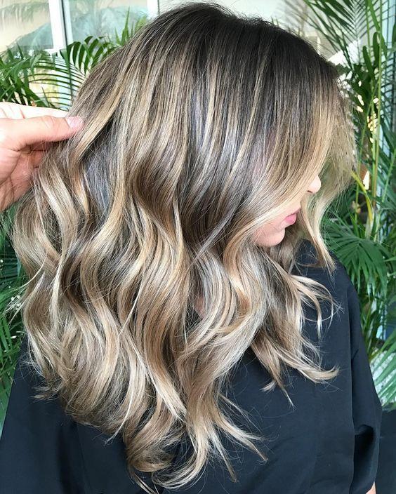 Sand Highlights In 2019 Balayage Hair Hair Color
