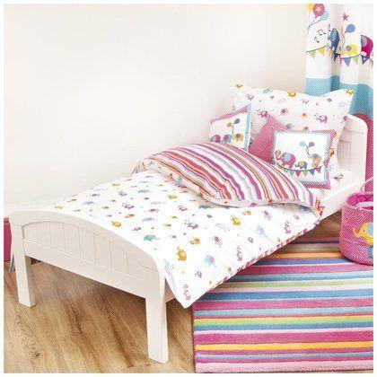 Jojo Maman Bebe Elephant Printed Single Duvet Set Cot Bed Duvet Set Duvet Sets Cot Bedding