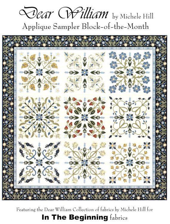 Dear William Morris Quilt Pattern Michele Hill Block of Month Set ...