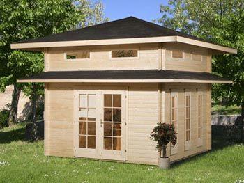 MESEM Blockhaus Toskana Gartenhaus holz, Gartenhaus, Haus