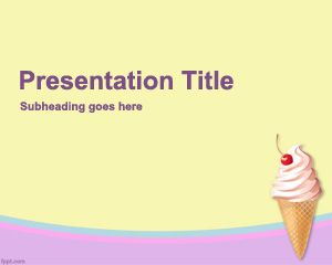 ice cream powerpoint template is a free powerpoint template with ice