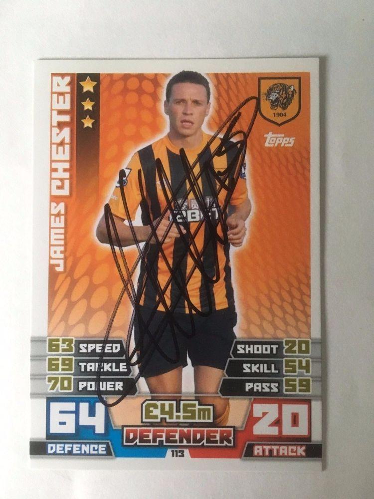 James Chester Hull City Footballer Signed Match Attax 14